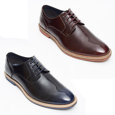 Gewidmet Lucini Mens Derby Designer Handmade Leather Shoes