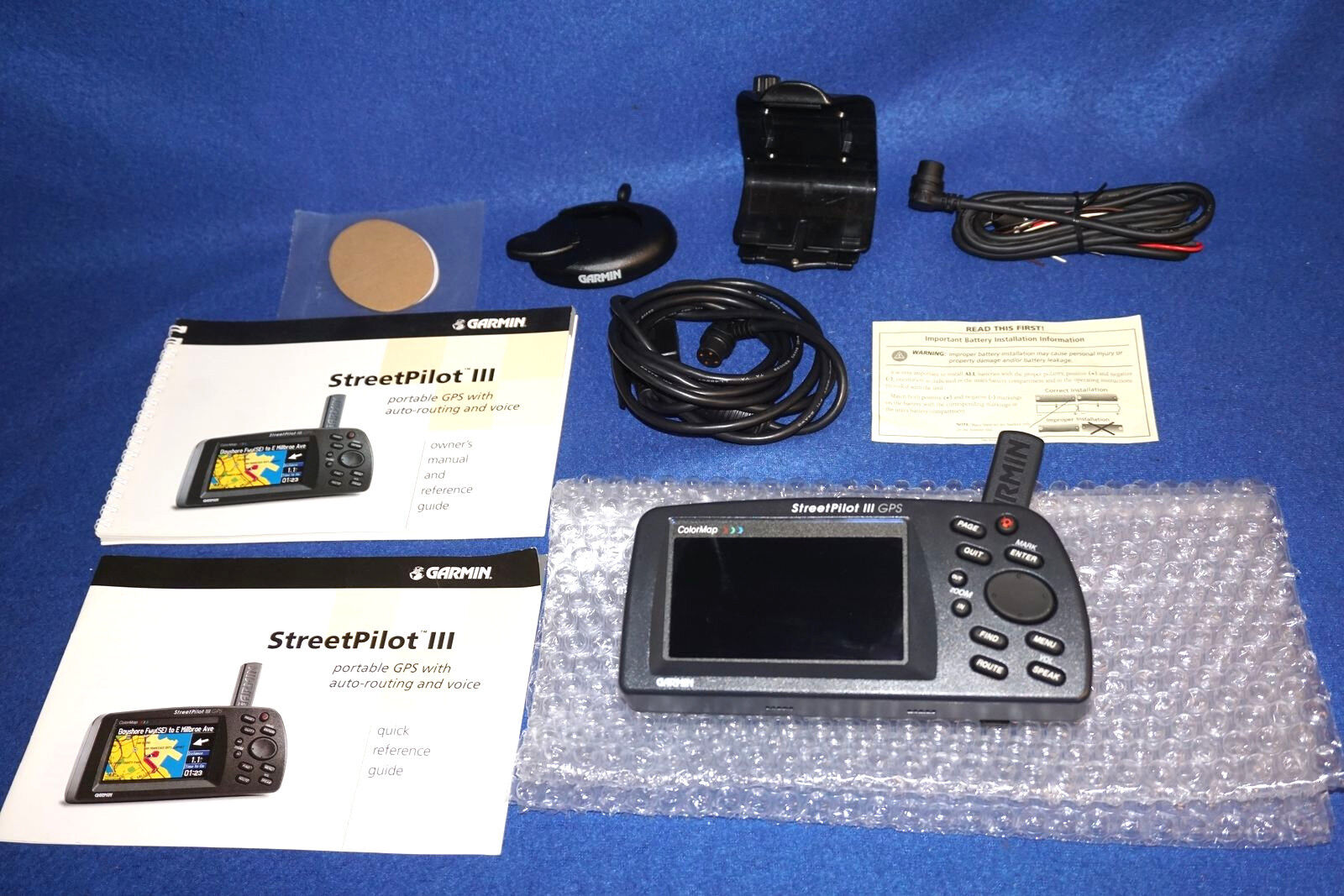 Garmin Streetpilot Iii Gps Wiring Diagram Electrical Diagrams 4 Striker Color 3 Chart Plotter Marine Auto Boat