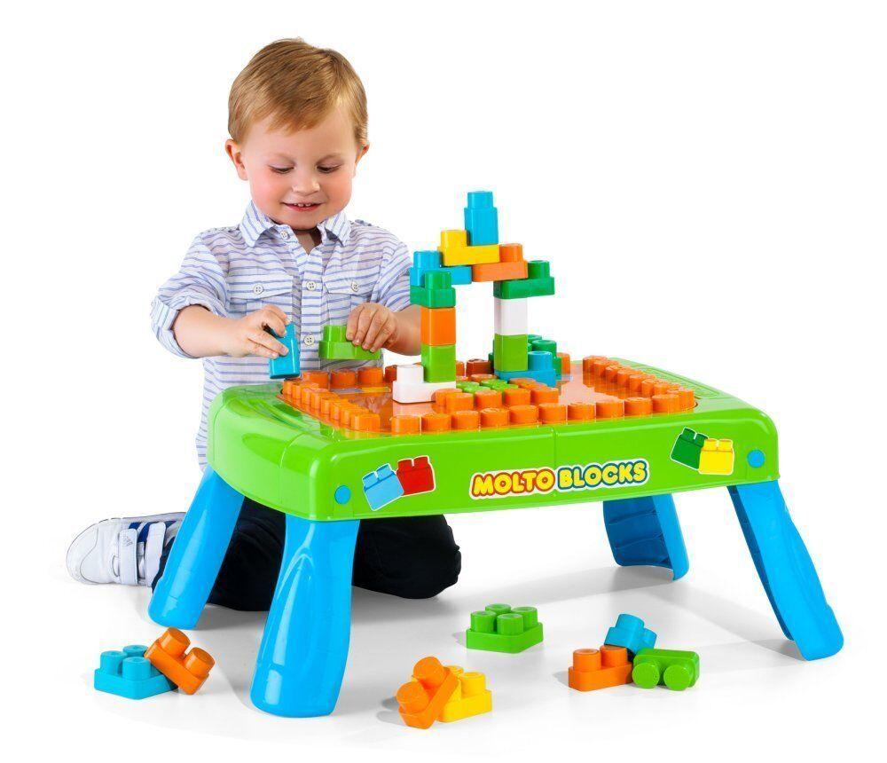 Mesa con Bloques 20 piezas MultiFarbe Patas Plegables Plegables Plegables Jueno Niño Construcción 52f720