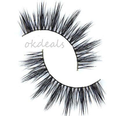 Black Luxurious 100% Real Mink Natural Thick Eye Lashes False Eyelashes D-6