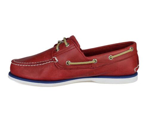 para Timberland rojo zapatos 6829b cordones de 2 cuero Classic náuticos Eye hombre con tqwrtFp