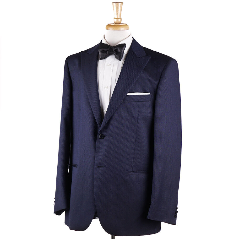 NWT 1375 LUBIAM (L.B.M. 1911) Midnight Blau Wool-Silk Formal Suit 46 R (Eu 56)