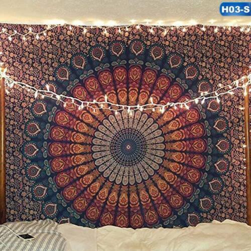 Indian Mandala Tapestry Totem Bohemian Wall Hanging Queen Bedspread Throw Perfec