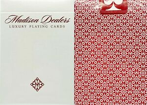 NEW-SEALED-Madison-Red-Borderless-Dealers-Playing-Cards-Deck-Ellusionist-Magic