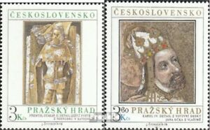 Tschechoslowakei-2442-2443-kompl-Ausg-postfrisch-1978-Prager-Burg