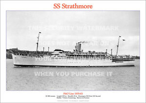 SS-STRATHMORE-P-amp-O-LINE-SHIP-A3-POSTER-PRINT-PICTURE-IMAGE-PHOTO