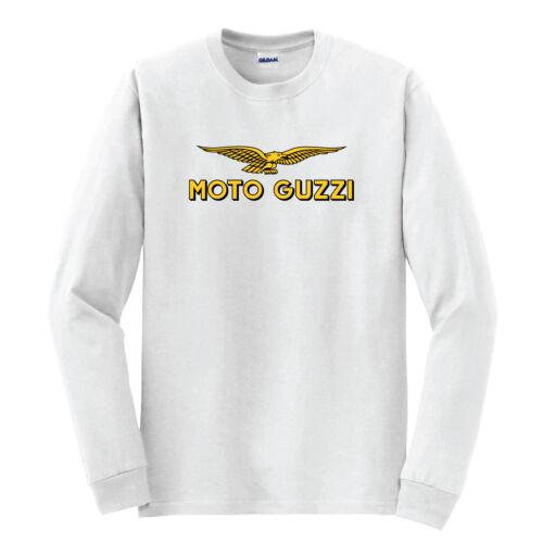 Moto Guzzi Vintage Classic Racing Unisexe Hommes T-shirt blanc à manches longues S-5XL