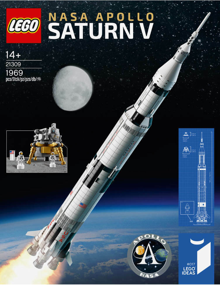 LEGO® 21309 Ideas LEGO® NASA Apollo Saturn V NEU & OVP   Rakete 100 cm hoch NEU