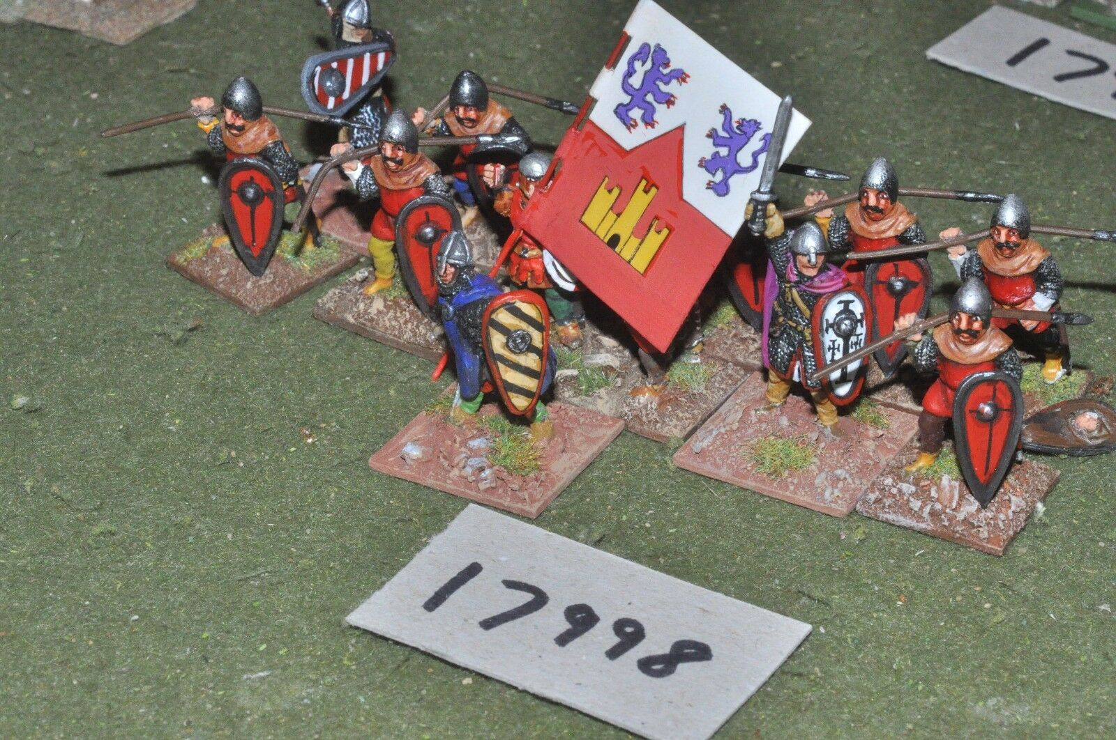 25mm medieval   spanish - spearmen 13 figs - inf (17998)