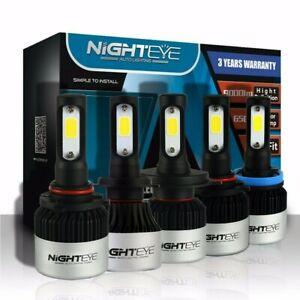 Nighteye-H1-H4-H7-H11-9005-9006-LED-Autoscheinwerfer-Birnen-Kit-Lampen-Licht-72W
