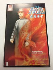 The Blood Sword #1 August 1988 Ma Wing Shing Jademan Comics with 2 stickers