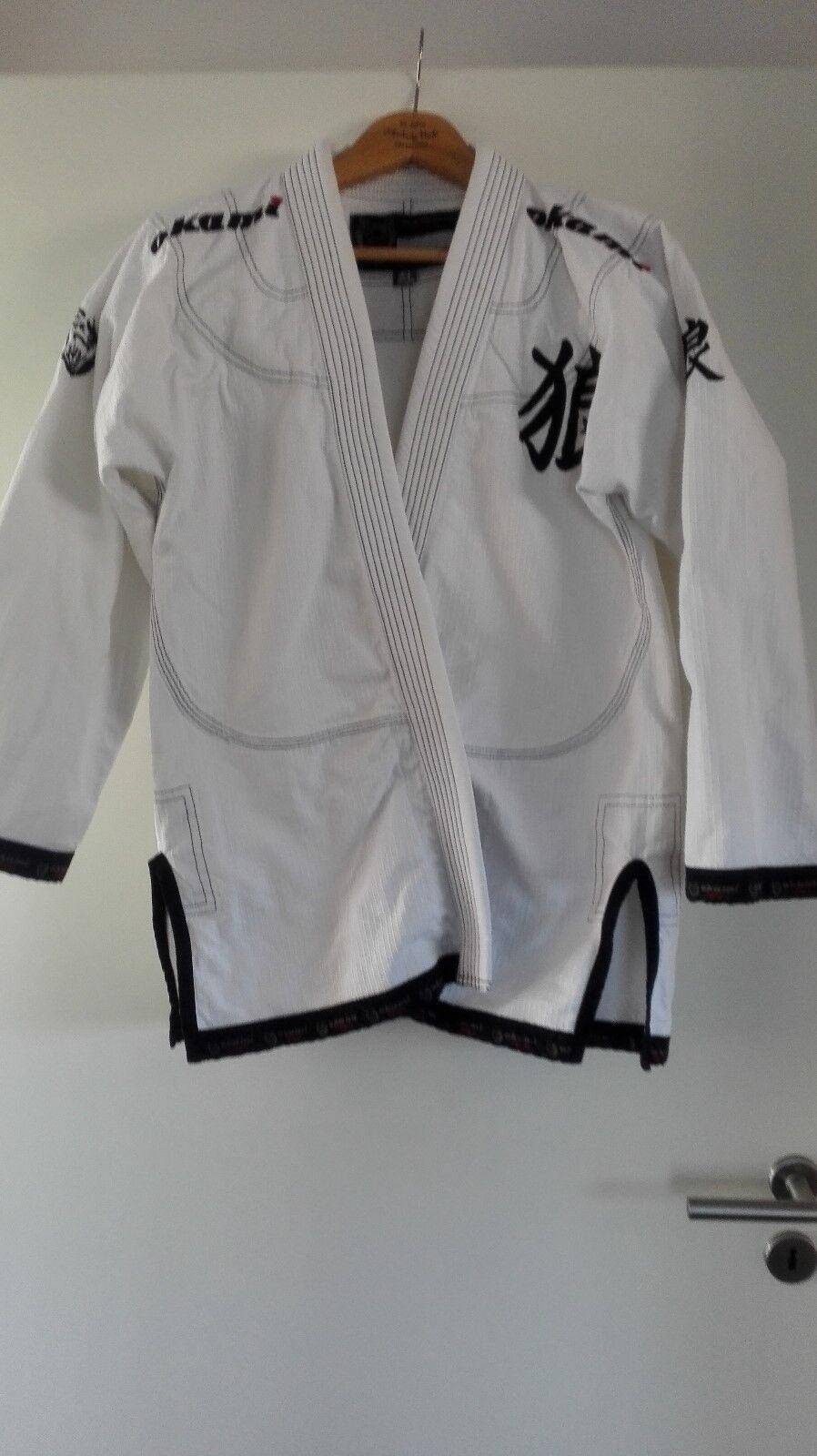 Okami Fightgear    Gi - Jiu Jitsu  Anzug Kimono weiß Herren Größe A3 - neuwertig e21b29