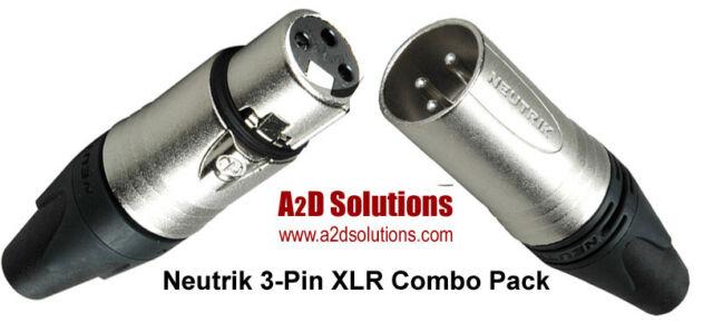Neutrik XLR 3-Pin Combo Pack - 40 Male / 40 Female Connectors - Total 80
