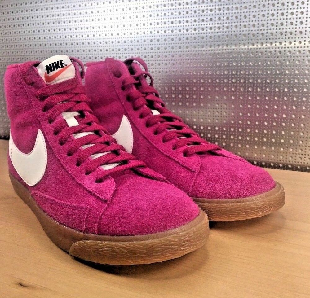 NIKE BLAZER MID TOP PRM 518171 614 Femme Pink Gum Sole Taille 9 New in Box