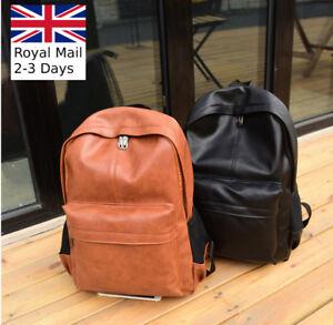 1a6ad3081db3 Details about Large Unisex Men Women Leather Backpack Shoulder Bag Ruc  Travel