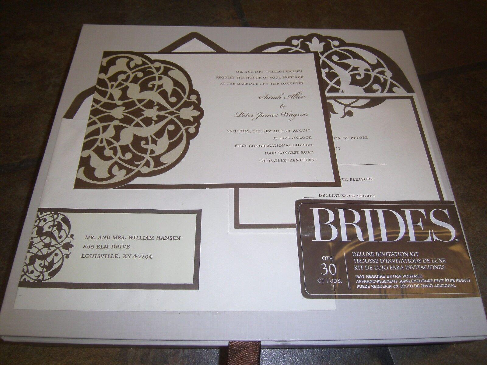 Gartner Studios DIY Brides Deluxe Wedding Invitation Kit 30 Ct Brown ...