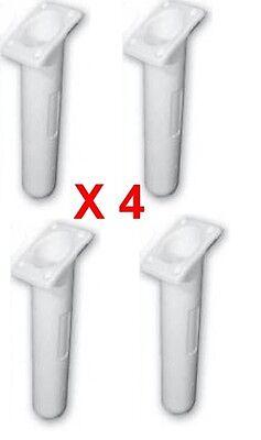 Fishing Equipment Fishing Independent Rod Holders X 4 Slimline Angled White