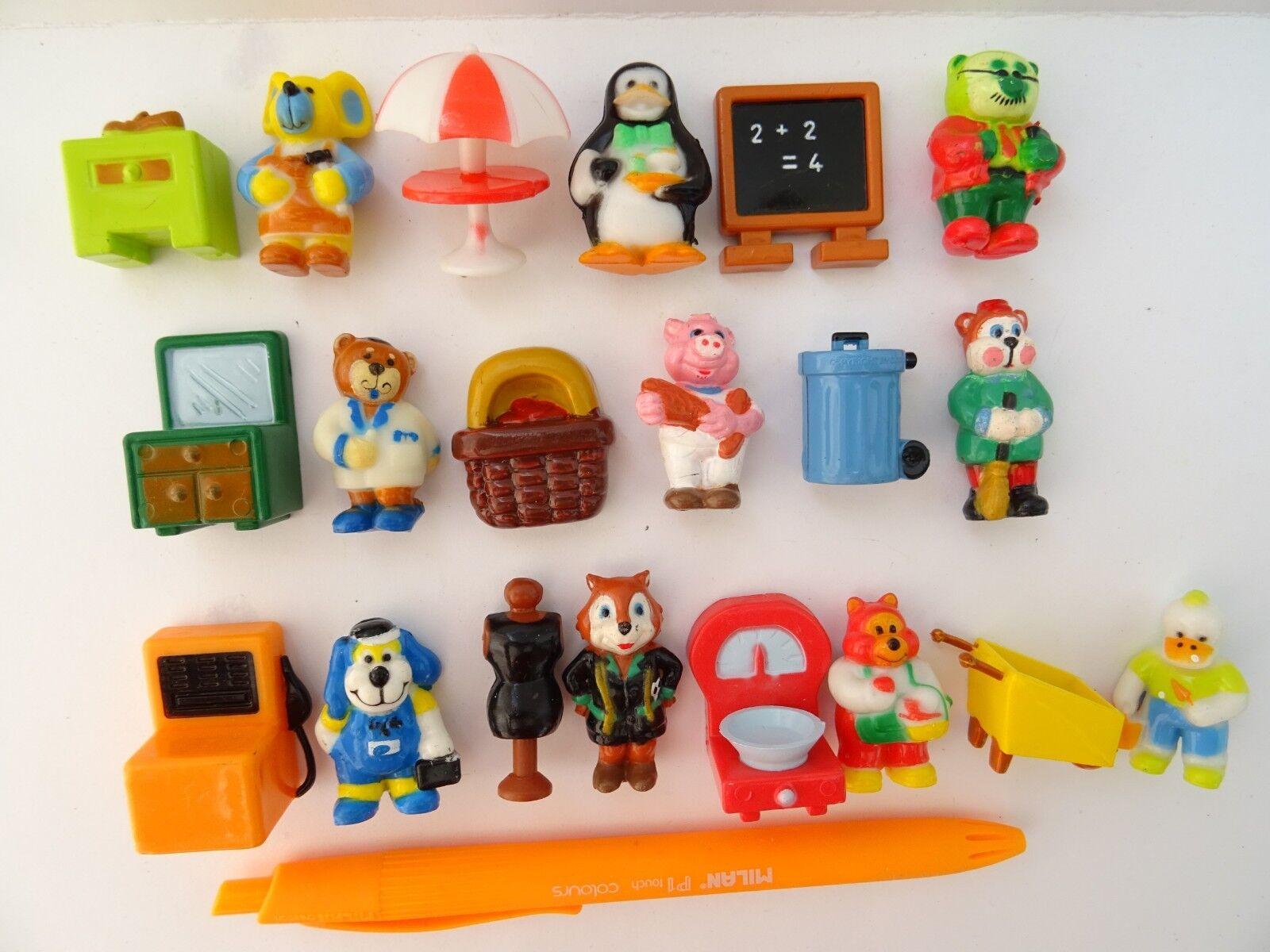 Collectible Complete 20 Figures Set CIOCORI Cercaffetto Nestle Motta 1991 1992