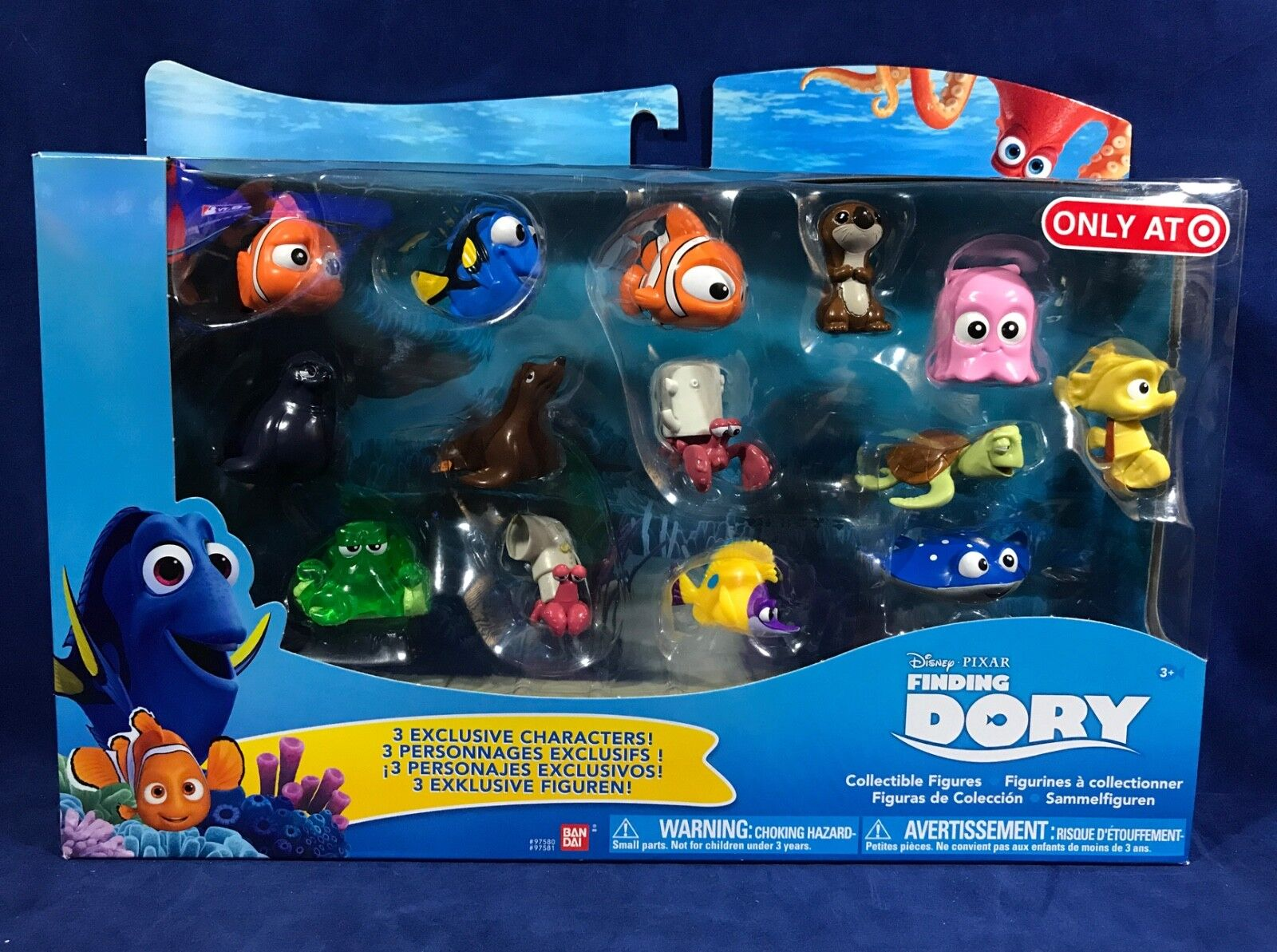 New FINDING DORY 14-Pk CHARACTER Figure COLLECTION Plant Hank TAD Sandy TARGET