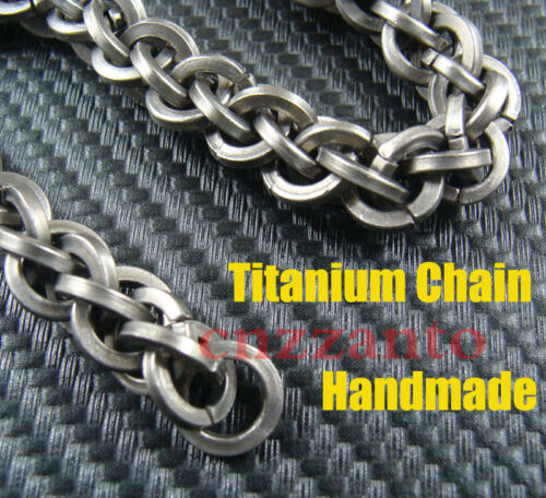 Handmade 10mm width Titanium wheat chain for wallet key Fob chain crafts use