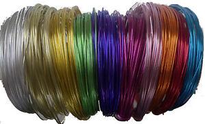 (0,29 €/m) 120m joyas alambre set 2mm 10 colores cuanto 12m basteldraht aludraht alambre  </span>
