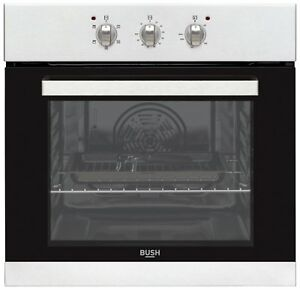 Bush-BIBFOS-Single-Built-In-59-5cm-Single-Electric-Fan-Oven-Stainless-Steel