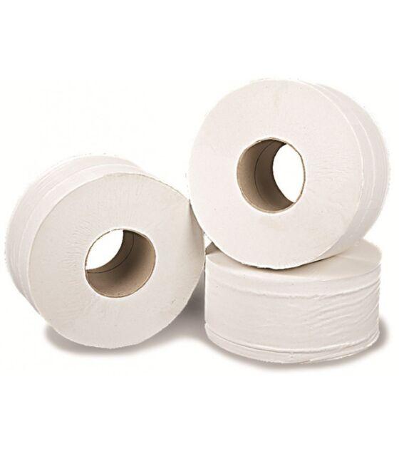 12 x Rolls Mini Jumbo Toilet Roll Tissue Paper Bath Wash Room Bulk Sheets Wipes