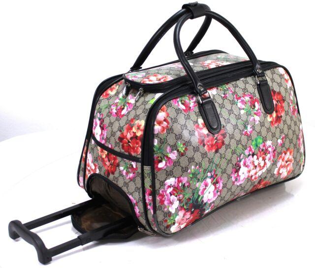 Designer Inspired Cabin Approved Trolley Hand Luggage Holdall Suitcase Bag uk
