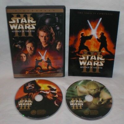 Star Wars Episode Iii Revenge Of The Sith 2 Disc Dvd Set Widescreen Ws Ebay