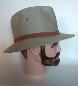 Vintage-LEE-Fedora-HAT-Men-100-Cotton-Cowboy-Western-made-in-USA-Large-RARE
