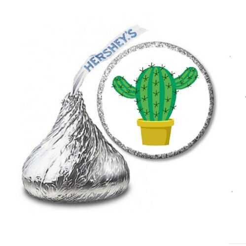 108 CACTUS FIESTA Party Favors Stickers Labels for Hershey Kiss