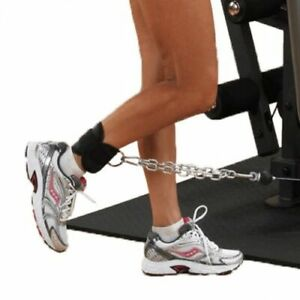 HEAVY-DUTY-Weight-Lifting-ANKLE-D-RING-Pulley-Cable-Attachment-GYM-Leg-STRAP-Pai