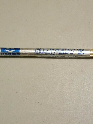 Surplus Stock 2 rods HARRIS Stay-Silv 15 Brazing Alloy 15/%Silver