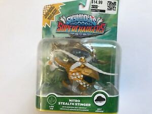 1x ✈ Skylanders SuperChargers-<wbr/>Nitro Stealth Stinger Figure-Exclusi<wbr/>ve Vehicle Toy