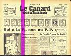 Le CANARD ENCHAINE numero 2163 du 4 avril 1962