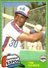 1981 Topps Traded Tim Raines Montreal Expos #816 Baseball Card