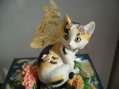 Faerie  Glen Faerie Tails Fairy Cat Figurine Tessa Boxed