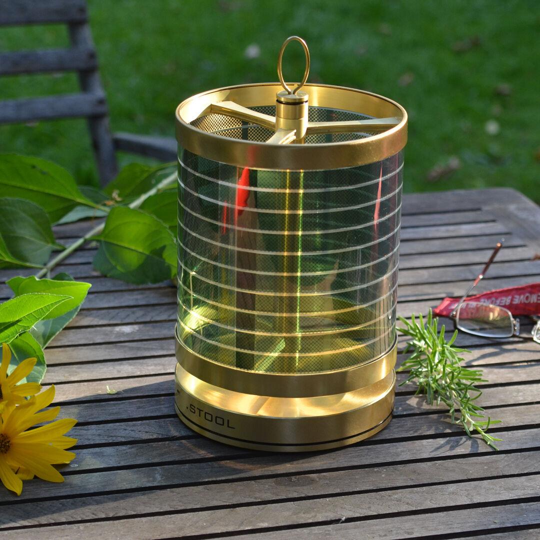 Solar Lampe Tischleuchte   Garten Licht   LED 6W   250 lm   Wetterfest   Messing  | Der Schatz des Kindes, unser Glück
