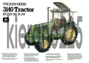 A3-John-Deere-3140-Tractor-Poster-Sales-Brochure-Cutaway-Advert-Britains-Farm