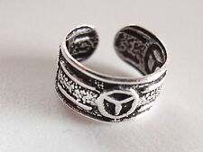 Peace Symbol Ear Cuff Earring 925 Sterling Silver Earcuff Corona Sun Jewelry