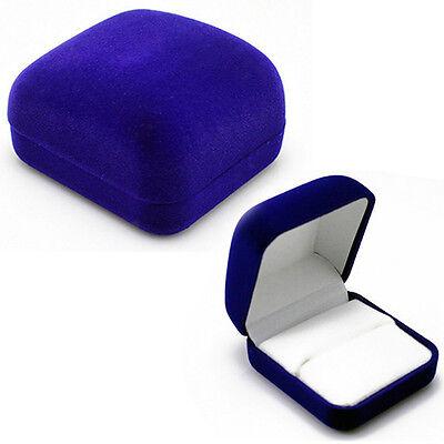 Delicate Velvet Engagement Jewelry Ring Box Earring Pendant Display Holder Case
