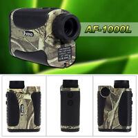 6x1000 Yd Waterproof Hunting Laser Rangefinder Distance Speed Measurer Meter