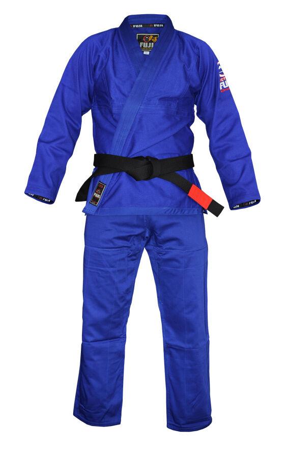 New Fuji Lightweight Light Summer Weight Mens Brazilian Gi Jiu-Jitsu BJJ - bluee