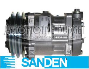 Sanden 4318 A/C Compressor w/Clutch - NEW OEM - Freightliner Kenworth