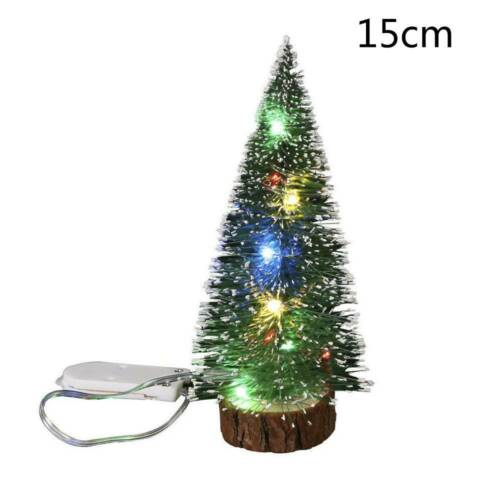 15CM Mini Christmas Tree with LED Lights Ornaments Desk Table Decor Xmas Gift L7