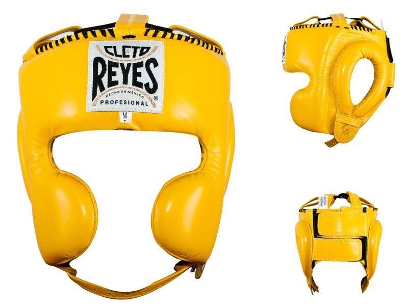 Cleto Reyes Classico Cheek Prossoezione Boxe Copricapo giallo