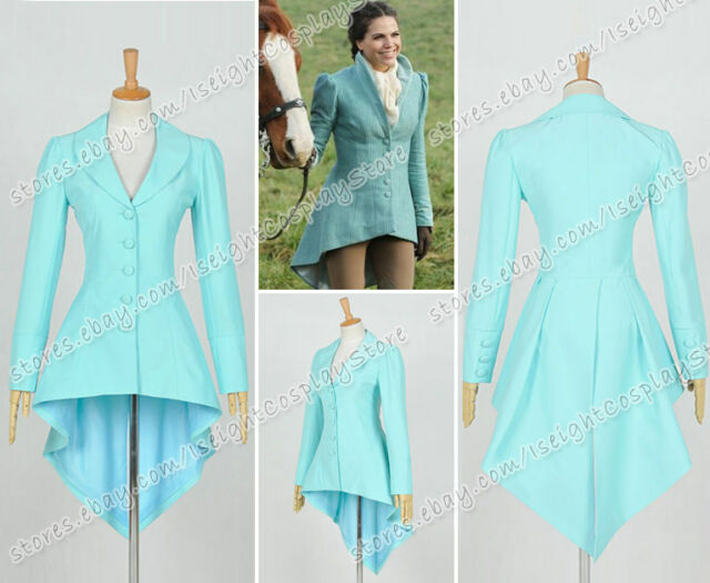 Once Upon A Time Season One Cosplay Evil Queen Regina Mills Costume Tailing Coat