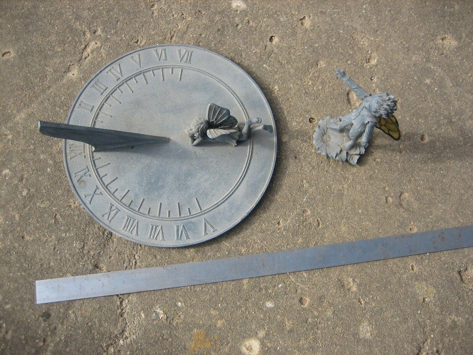Fairy sundial with additional fairy ornament