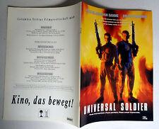 UNIVERSAL SOLDIER * PRESSEHEFT 32-seitig -German Pressbook Deutsch ´92 Van Damme