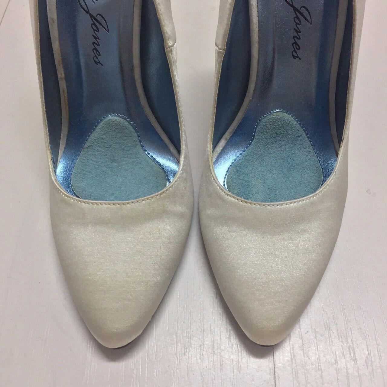 NEW LAUREN JONES Woman's Zinger Ivory Satin Satin Satin Pumps Wedding Bridal Heels shoes 8 M 649905